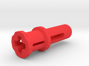 Toy Handle: Cross Hole in Red Processed Versatile Plastic