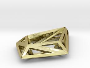 HIDDEN HEART STRUCTURA, Pendant. in 18K Gold Plated