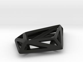 HIDDEN HEART STRUCTURA, Pendant. in Black Natural Versatile Plastic