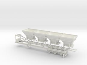 1/50th Cold Mix Aggregate Hopper Trailer  in White Natural Versatile Plastic