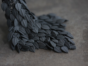 Leafy Fabric Piece in Black Natural Versatile Plastic