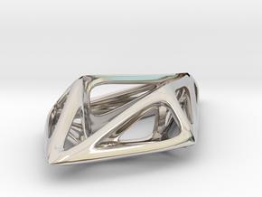 STRUCTURA Smooth, Pendant. in Platinum