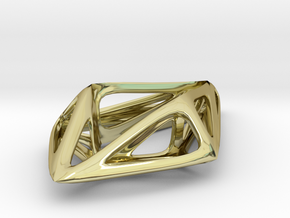STRUCTURA Smooth, Pendant. in 18K Gold Plated