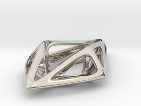 STRUCTURA Smooth, Pendant. in Rhodium Plated Brass