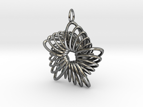 5 Point Nautilus Rings - 4cm in Fine Detail Polished Silver