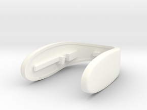 PLAIN REV 8 KEY FOB WITH CUSTOMIZATION  in White Processed Versatile Plastic