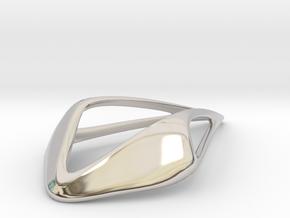 HIDDEN HEART Smooth Soft, Pendant in Rhodium Plated Brass