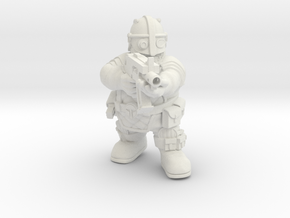 Space Dwarf warrior 3 in White Natural Versatile Plastic