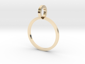 Charm Ring 12.37mm in 14K Yellow Gold