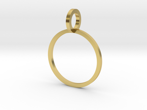 Charm Ring 14.05mm in Polished Brass