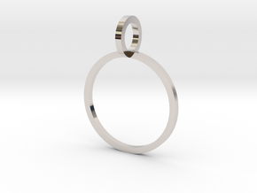 Charm Ring 14.36mm in Rhodium Plated Brass