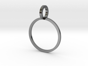 Charm Ring 14.36mm in Polished Silver