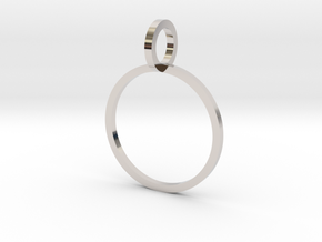 Charm Ring 14.86mm in Rhodium Plated Brass