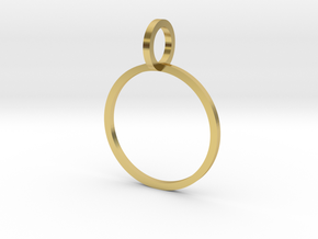 Charm Ring 15.70mm in Polished Brass
