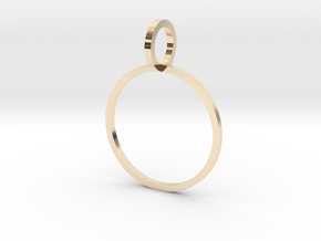 Charm Ring 16.92mm in 14k Gold Plated Brass