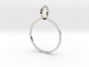 Charm Ring 18.53mm in Rhodium Plated Brass
