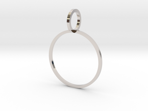 Charm Ring 19.41mm in Rhodium Plated Brass
