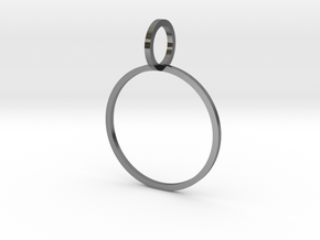 Charm Ring 19.41mm in Polished Silver