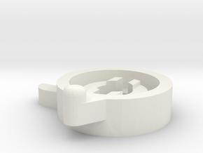 TM500 Panel Lock in White Natural Versatile Plastic