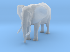 African Bush Elephant 1:48 Standing Male in Smooth Fine Detail Plastic