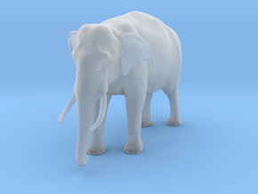 Indian Elephant 1:48 Standing Male in Smooth Fine Detail Plastic