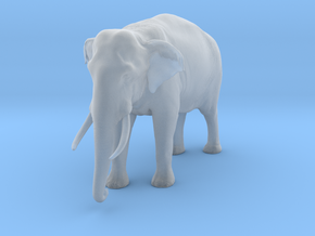 Indian Elephant 1:20 Standing Male in Smooth Fine Detail Plastic