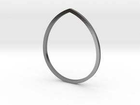Drop 18.19mm in Polished Silver