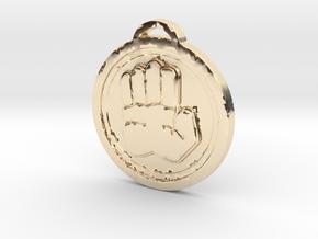 Game -World of Warcraft Ashbringer Disc in 14k Gold Plated Brass