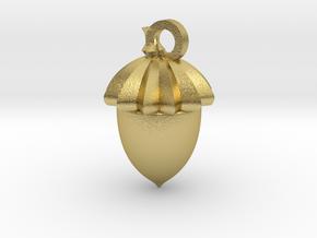 geometric acorn novembre  in Natural Brass