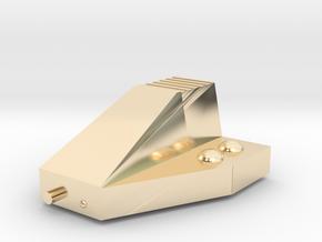 Ferret Tiny Grav Assault Sled Skids Up 15mm in 14k Gold Plated Brass