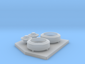 E8 Wheels and Hubs Set for Sherman Tank in Smooth Fine Detail Plastic