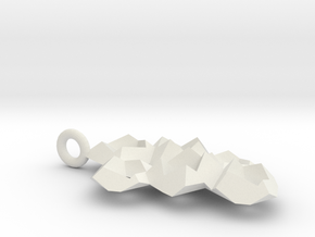 Crystaline Necklace A in White Natural Versatile Plastic