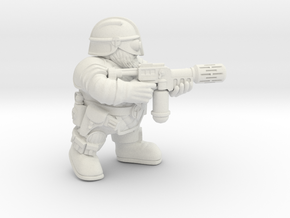 Space Dwarf Melta-gun in White Natural Versatile Plastic