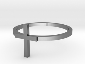 Cross 14.36mm in Polished Silver