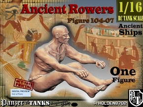 1/16 Ancient Rower fig104-07 in White Natural Versatile Plastic