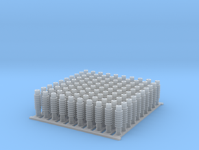 4mm OHLE insulators SM50D-D x 100 in Smooth Fine Detail Plastic