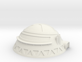 6mm Scale Communications Dome in White Natural Versatile Plastic
