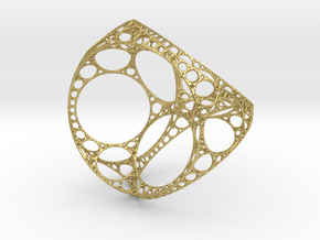Apollonian tetrahedron - small in Natural Brass