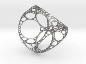 Apollonian tetrahedron - small in Natural Silver