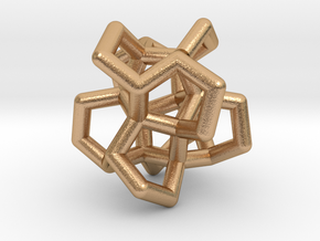 Twistane Cluster in Natural Bronze: Small