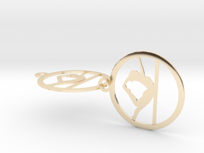 yoga (13) in 14k Gold Plated Brass