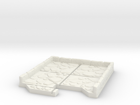 End Cap Dungeon Tile in White Natural Versatile Plastic
