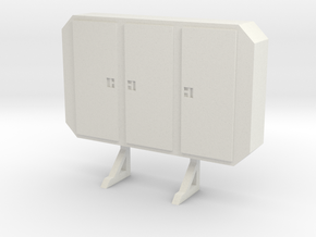 1:24 cabinet headache rack in White Natural Versatile Plastic