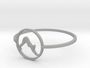 yoga downward facing dog ring in Aluminum