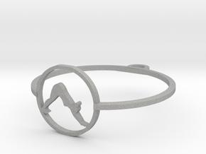 downward facing dog pendant (4) yoga in Aluminum