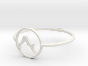 downward facing dog pendant small (1) in White Natural Versatile Plastic