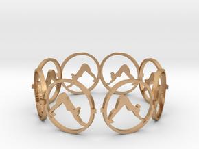downward facing dog bracelet yoga (2) in Natural Bronze