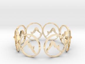 downward facing dog bracelet yoga (2) in 14k Gold Plated Brass