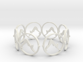 downward facing dog bracelet in White Natural Versatile Plastic