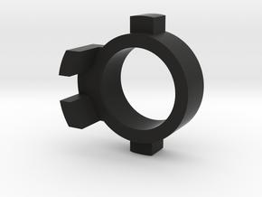 WPL Front Track Adaptor - Free Version in Black Natural Versatile Plastic